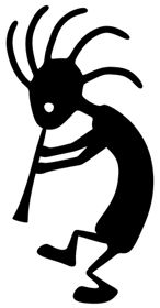Definitley thinking about getting a small Kokopelli tattoo! In honor of my time in my fave state, AZ♥