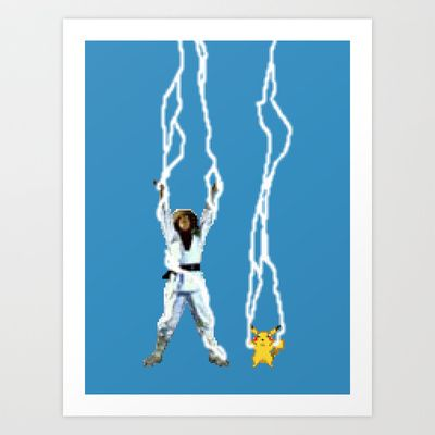 Raiden and Pikachu. By Sam Pea - $15.00
