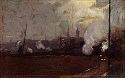 Tom Roberts, Evening train to Hawthorn (1889)