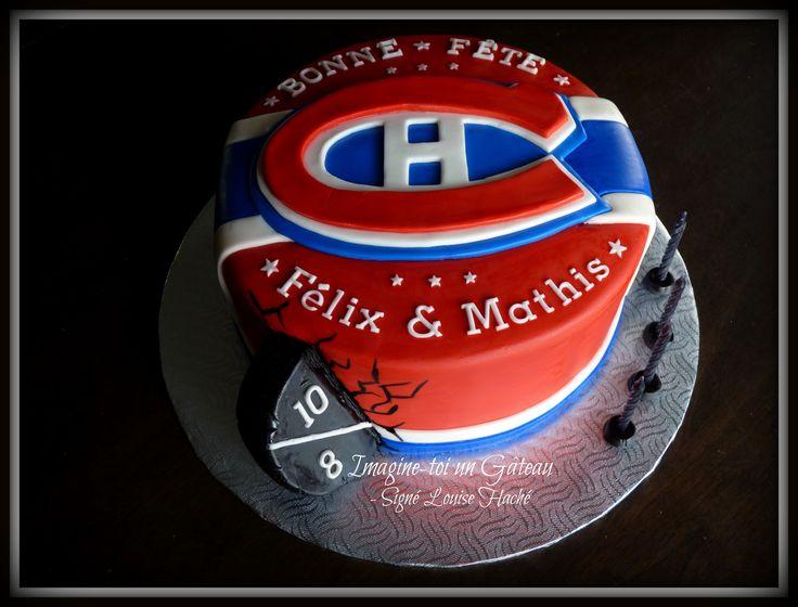 Montreal Canadians hockey cake.