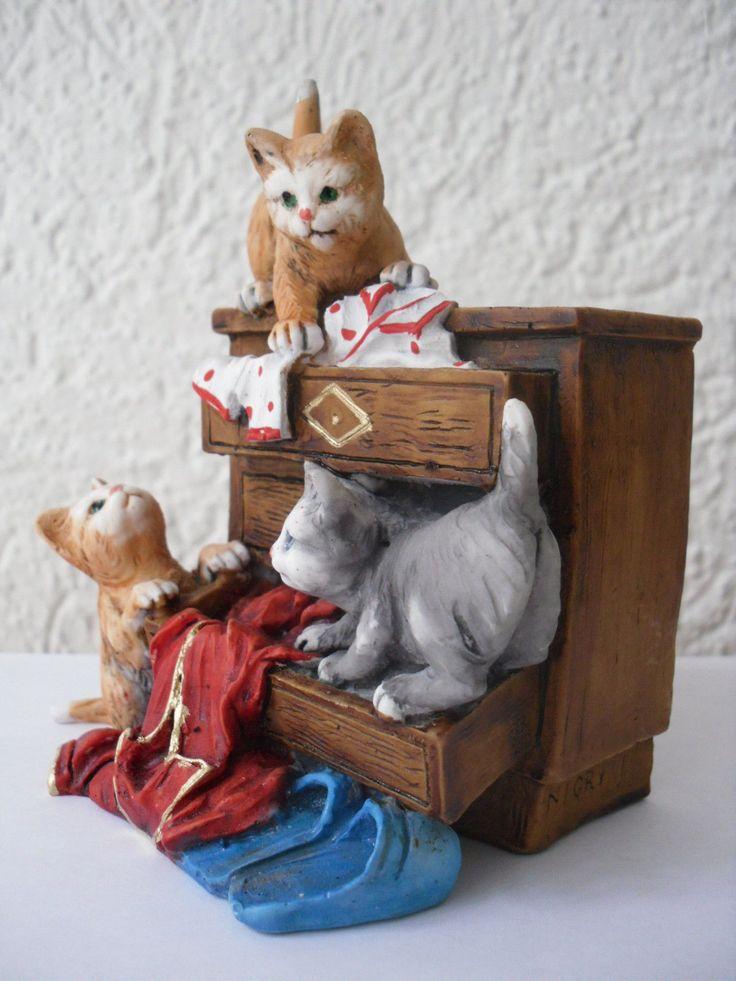 Dekofigur-Katzen in Wäschekommode | eBay