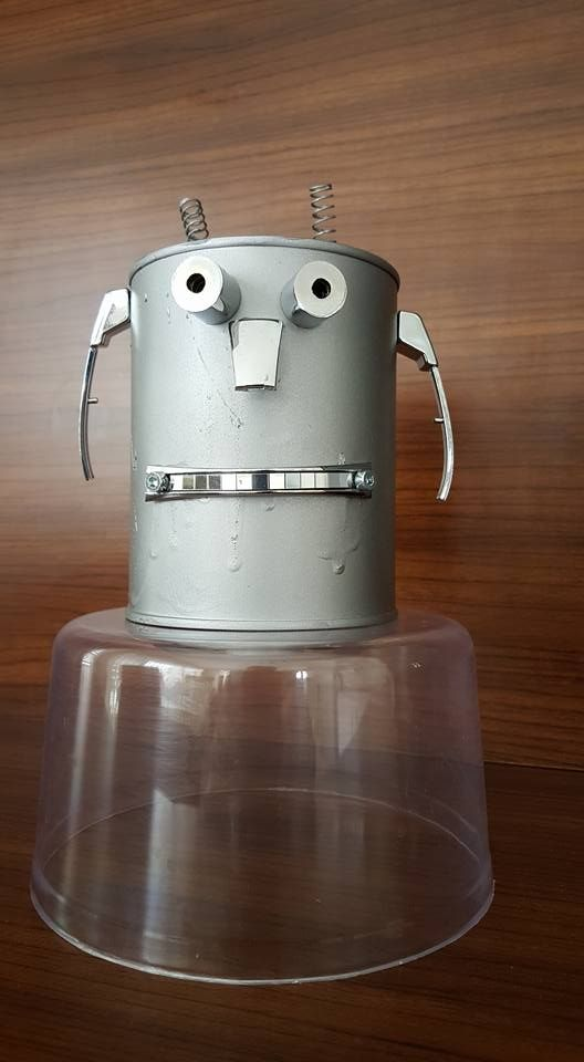 A robot from food box
