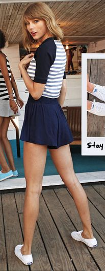 Taylor x white keds x sailor strips