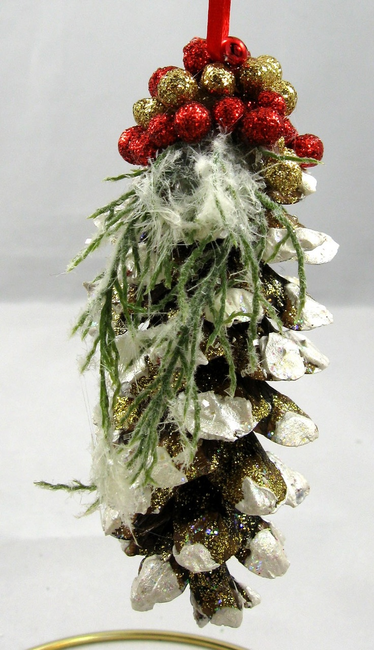 Pine Cone Christmas Decorations 63 Best Pinecone Crafts Images On Pinterest Pinecone Christmas