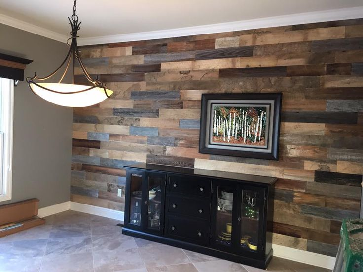 This Reclaimed Wood Accent Wall Makes The Whole Room Feel Warmer OriginalStyle