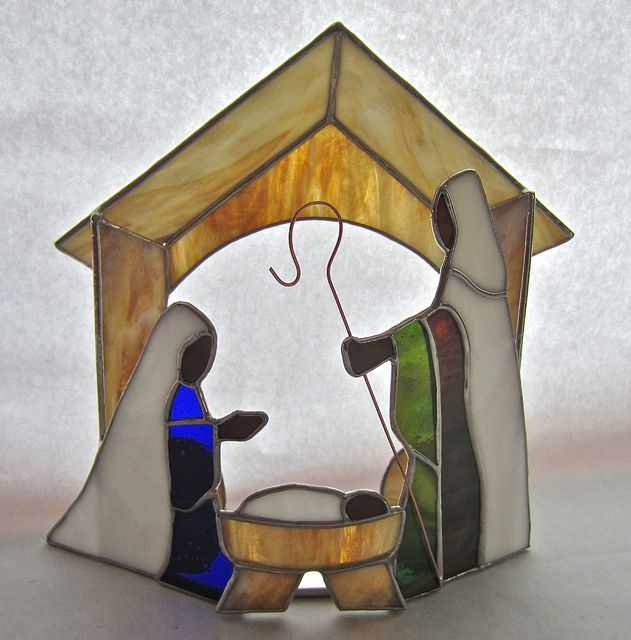 Stained Glass Creche | Flickr - Photo Sharing!