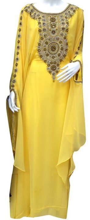 New Elegant Moroccan Kaftan Dress Abaya Jilbab Islamic Kheleeji Sequins Arabian | eBay