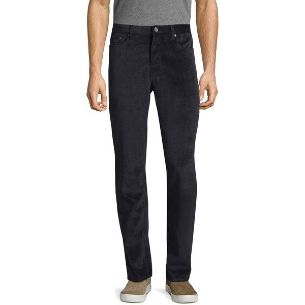Saks Fifth Avenue Men's Ribbed Corduroy Pants - Dark Blue/Navy, Size... ($35) ❤ liked on Polyvore featuring men's fashion, men's clothing, men's pants, men's casual pants, mens navy blue pants, mens corduroy pants, mens zipper pants, mens woven pants and mens navy corduroy pants