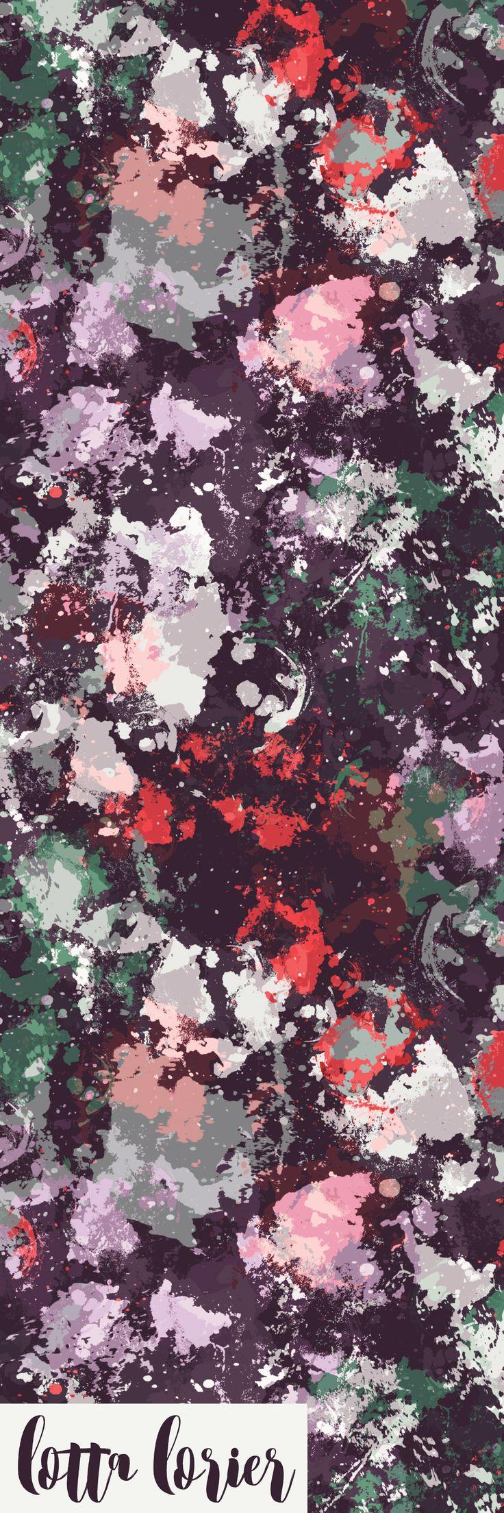 Winter Color Splash   Surface Pattern Design   Lotta Lorier