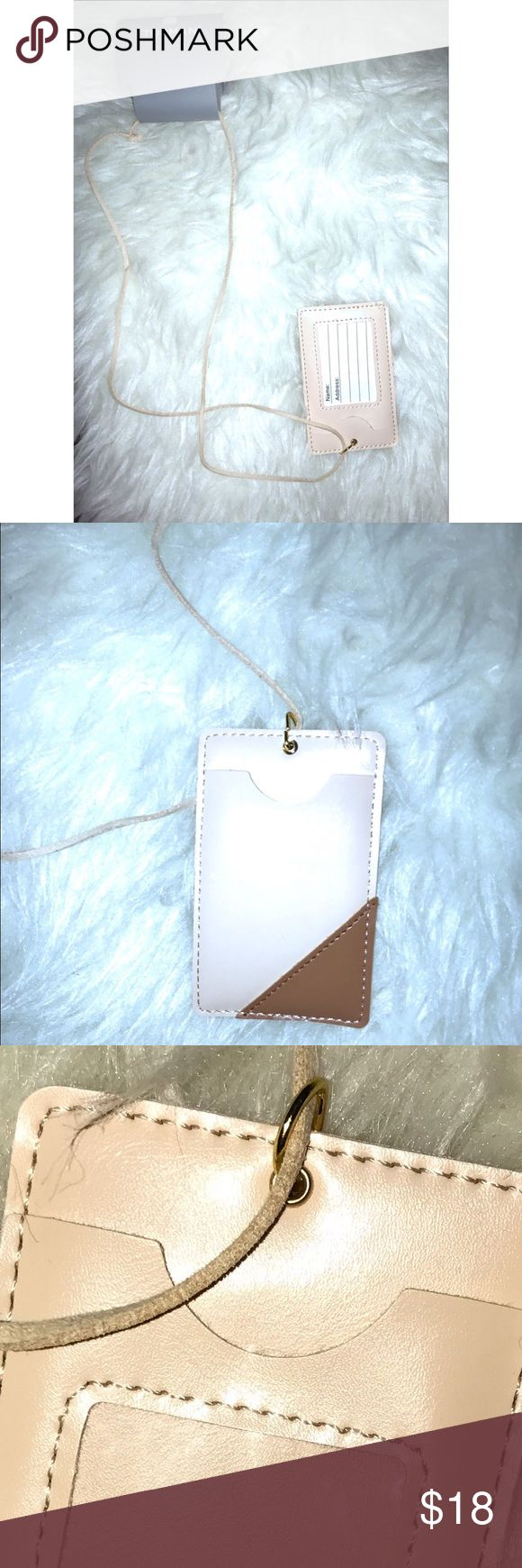 NWT Topman (TopShop) Leather Cardholder Brand new with tags. UNISEX CARDHOLDER Cardholder to conveniently hold your cards/keys around your neck. Awesome for dancing, jogging, amusement parks, traveling and lightening your load. Fits in your pocket or can be worn around your neck so you don't have to worry about losing your wallet or having it slip out of your pocket and works well when you don't have any pockets. BUNDLE AND SAVE! ANOTHER IS available in WHITE! Topshop Accessories Key & Card…