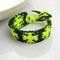 Make handmade jewelry- DIY string bracelets with words