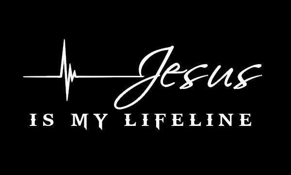 CHRISTIAN VINYL CAR TRUCK WINDOW STICKER DECAL JESUS IS MY LIFELINE