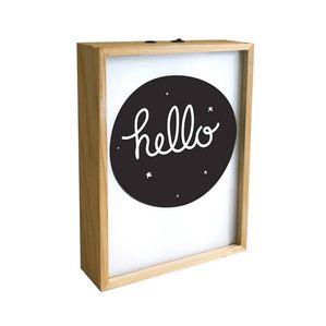 Flot lightbox/lyskasser til plakater fra A Little Lovely Company med træramme.