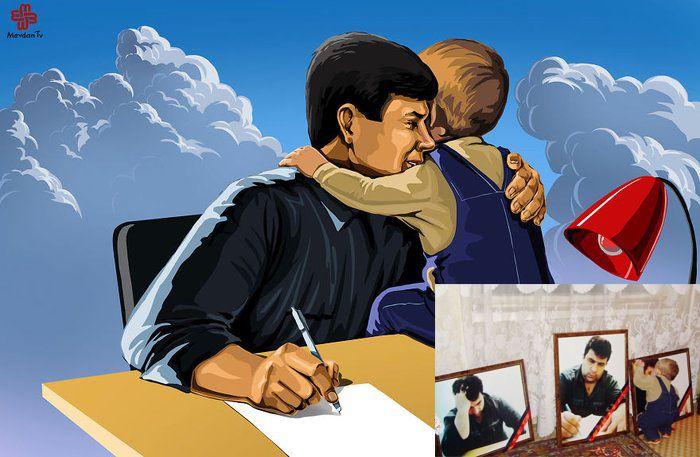2005 yılında evinin önünde kurşunlanarak öldürülen azerbaycanlı gazeteci Elmar Huseynov'un çocuğu