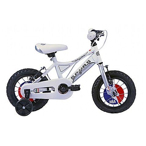 NBA San Antonio Spurs 12-Inch Kids Mountain Bike in White/Silver