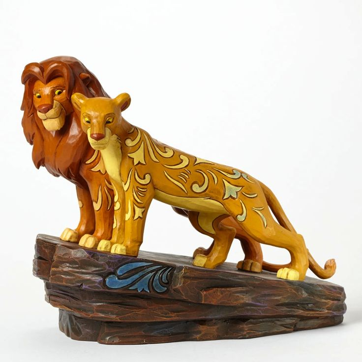 "The lion king knows where home is. ""PRIDE ROCK"" - ADULT SIMBA AND NALA FIGURINE (Jim Shore Disney Traditions) #Disney"