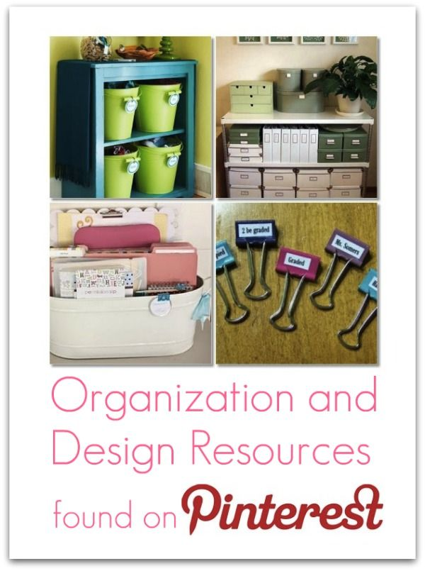 List of resources on how to organize and decorate a home.