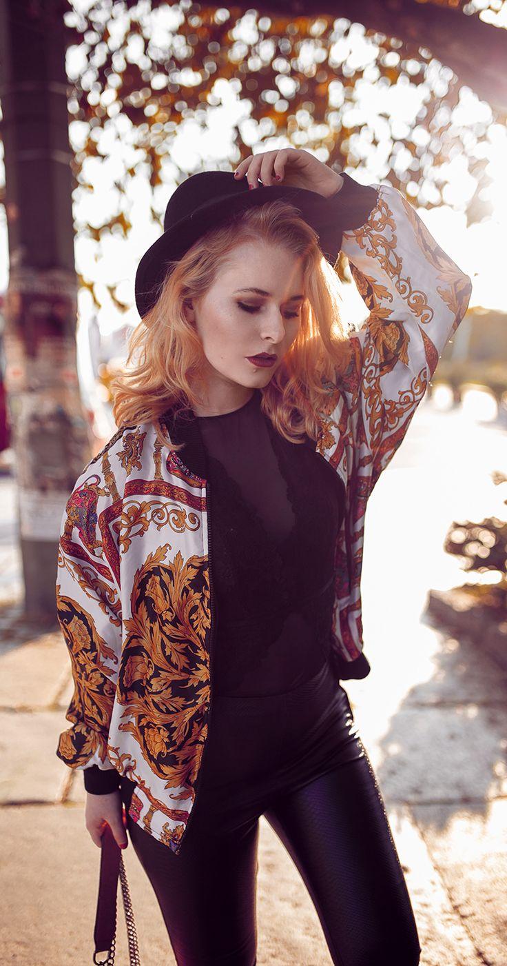 Vintage Bomberjacke, Hut & Chucks – Herbst Outfit  Naira