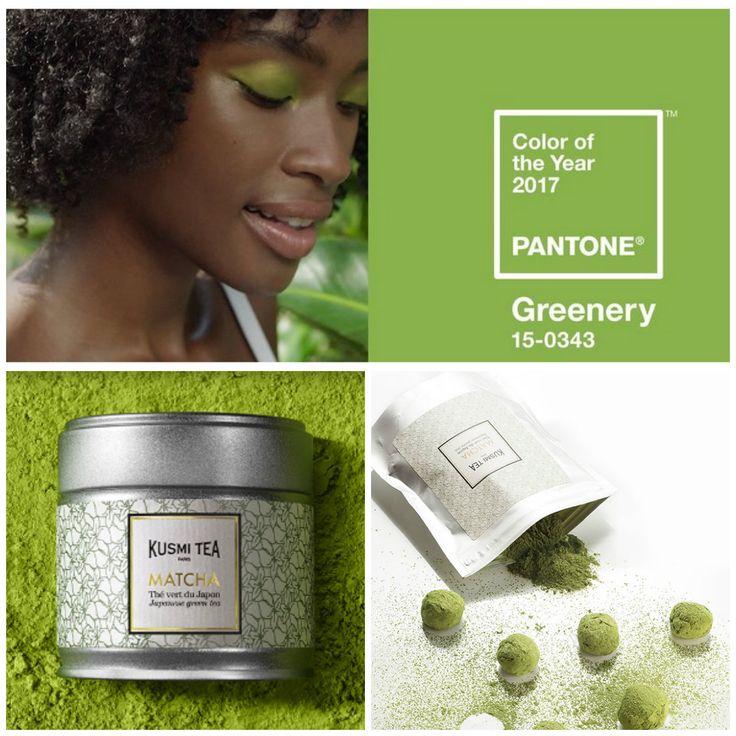 """Instytut PANTONE wybrał kolor wiodący w 2017 roku. Jest to greenery. Odświeżająca i ożywcza, zieleń jest symbolem nowego początku"""". Greenery jak matcha od KUSMI TEA"""