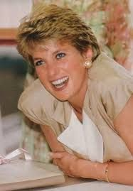 Princess Diana looking happy and enjoying the moment.