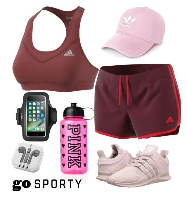 """""""Sporty Women's Style"""" by saffaatun on Polyvore featuring Victoria's Secret, adidas, adidas Originals, Belkin and PhunkeeTree"""