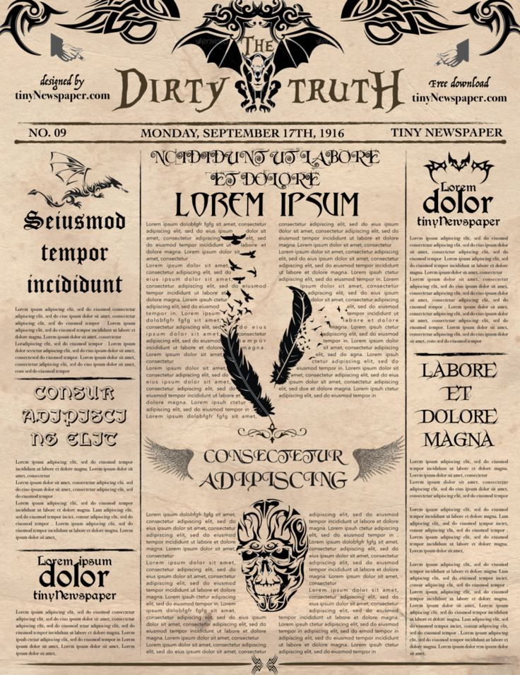 Old Newspaper Article Template Word Free