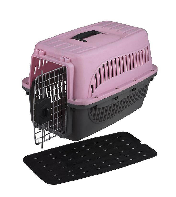 Homey Pet 19' Plastic Dog/Cat Carrier in Pink/Blue *** Details can be found  : Dog kennels