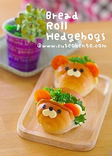 Kids Meal Idea: Bread Roll Hedgehogs ( 2mins Video http://youtu.be/tGeE2RSKWSQ )