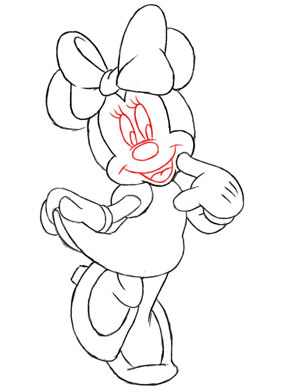 Best 25 Mini Mouse Drawing Ideas