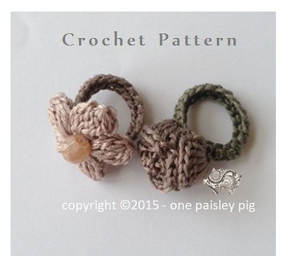 Crochet Flower Rings Daisy & Rose - crochet pattern (fun diy, cute crochet ideas)