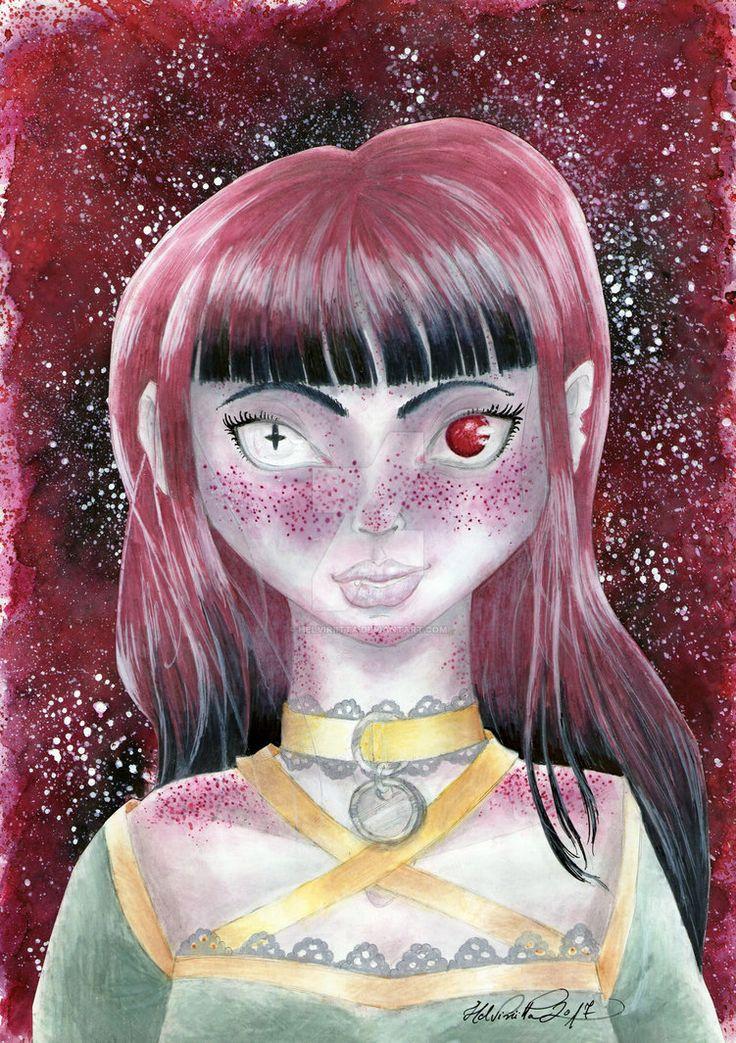 Redhead Demon Girl by Helviriitta.deviantart.com on @DeviantArt