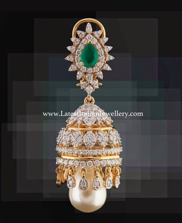 Latest Diamond Jhumka Design