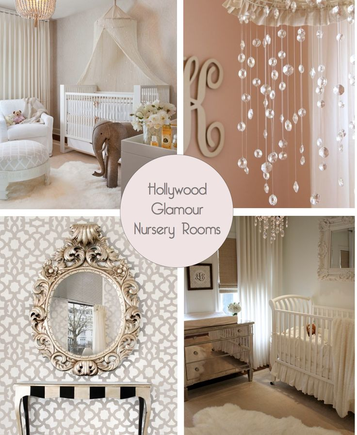 10 Shabby Chic Nursery Design Ideas: Dream Nursery! Old Hollywood Glamour With A Dash Of Shabby
