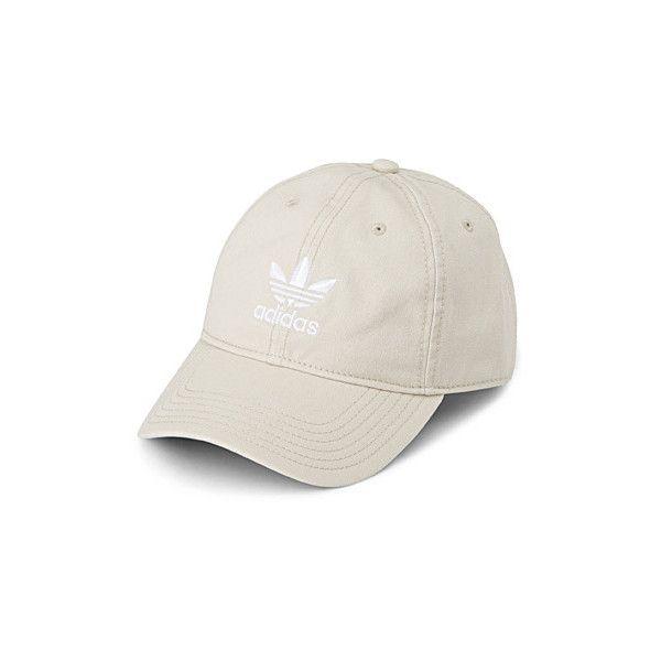 Adidas Sandy-hued baseball cap ($24) ❤ liked on Polyvore featuring accessories, hats, baseball cap, adidas snapback, snap back hats, 6 panel baseball cap and adjustable ball caps