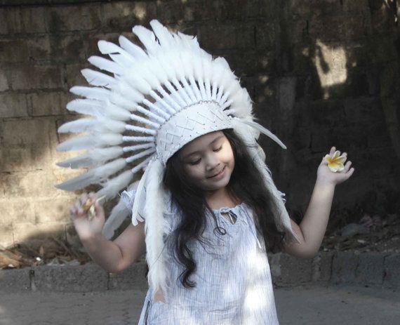 ON SALE witte kinderen hoofdtooi. Indische van etnikabali op Etsy