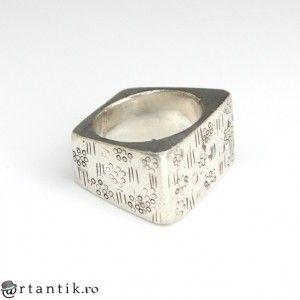 impozant inel modernist scandinav - argint - Danemarca