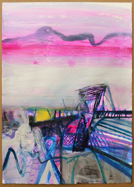 Shore Blacksod, mixed media, 86 x 61cm  Barbara Rae