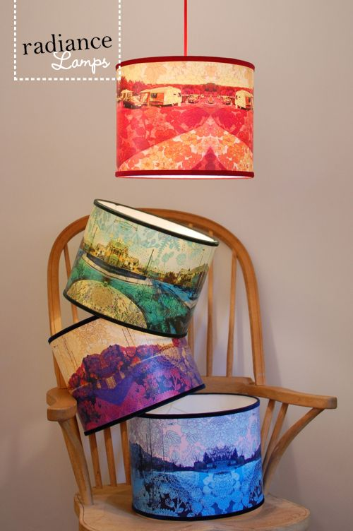 awesome self made lamp shades http://www.moredesignplease.com/moredesignplease/2011/8/2/i-love-lamp-shade.html