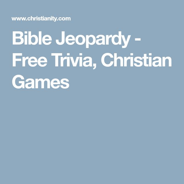 Bible Jeopardy - Free Trivia, Christian Games