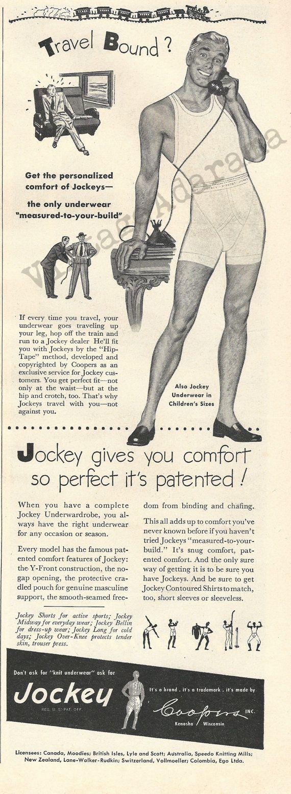 Jockey Men's Underwear Original 1948 Vintage Ad by VintageAdarama, $9.99