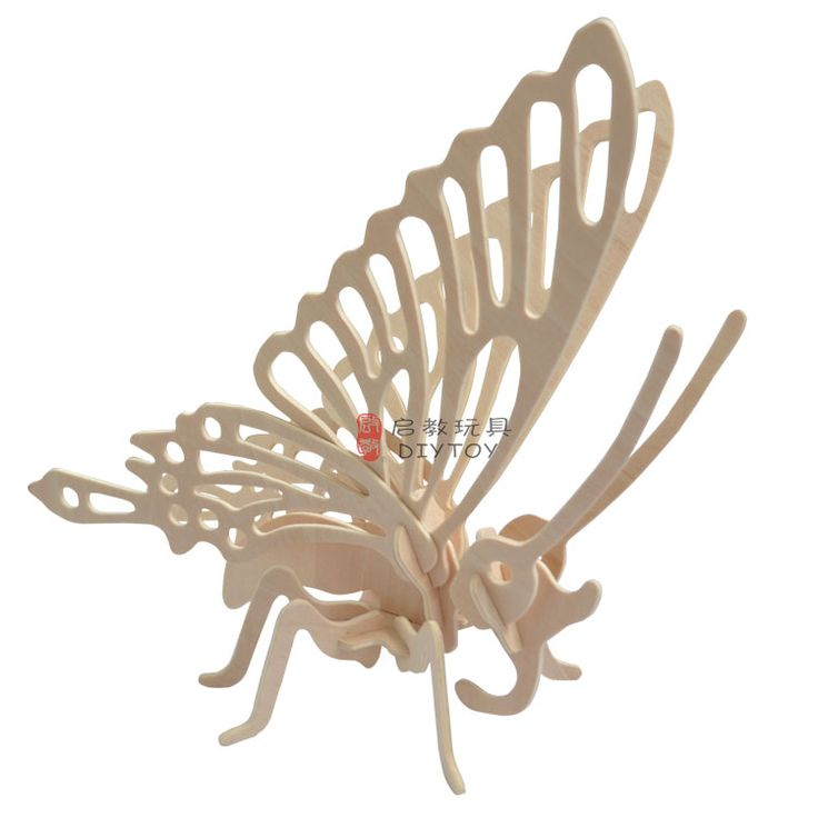Butterfly----Woodcraft Construction Kit Kid Wooden Building Puzzle Model Game