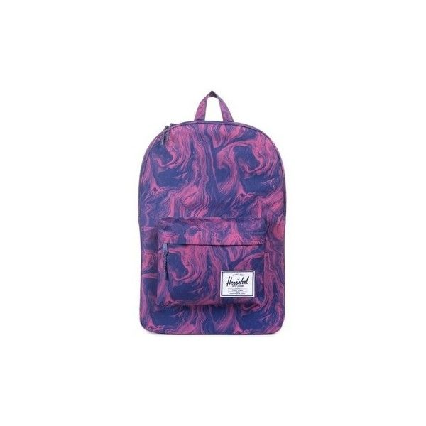Herschel Supply CO Red Marble Classic Backpack Backpack ($115) ❤ liked on Polyvore featuring bags, backpacks, backpack, pink, day pack rucksack, daypack bag, purple backpack, herschel bags and pink backpack