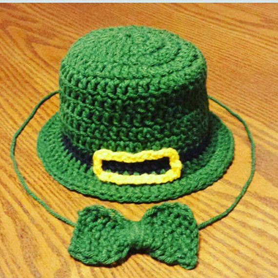 Check out this item in my Etsy shop https://www.etsy.com/ca/listing/265669629/leprechaun-baby-hat-st-patty-day-set