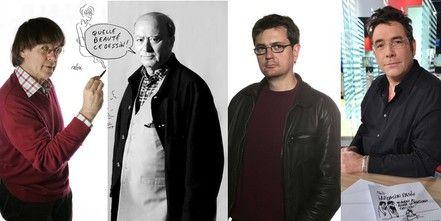 Les dessinateursCabu, Wolinski, Charb et Tignous, tués le 7 janvier 2014 à Paris