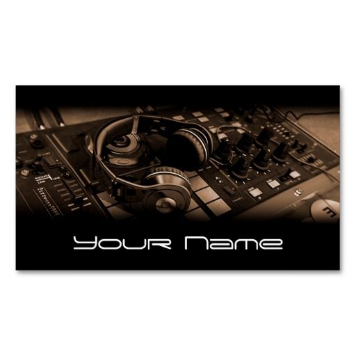 148 best customized dj business cards images on pinterest dj dj business card colourmoves