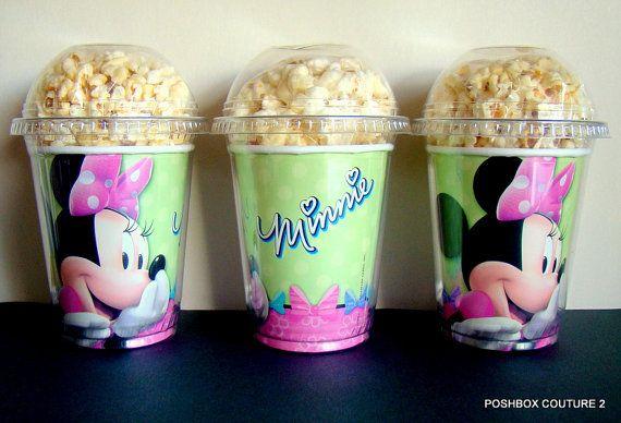 Cajas de palomitas de maíz Minnie Mouse por JaymesPartyBox en Etsy
