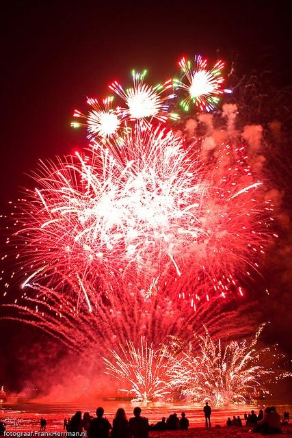 Fireworks festival at Scheveningen beach, Netherlands