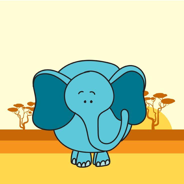 I'm cute blue elephant and I know it:)