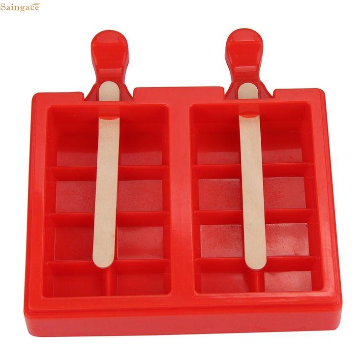 >> Click to Buy << Saingace Ice Cream Tools Popsicle Mold Ice Trays Lattice silicone Ice Maker + 50Pcs Popsicles sticks u70328 DROP SHIP #Affiliate