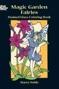 Fairies and Elves Stained Glass Colouring Book